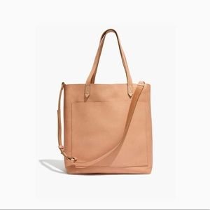NWT Madewell Medium Leather Tote in Linen Color
